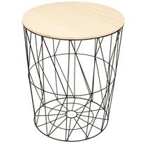 Lucan segédasztal, fekete, 57 cm