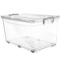 Orion Cutie de depozitare din plastic cu roți, 80 l