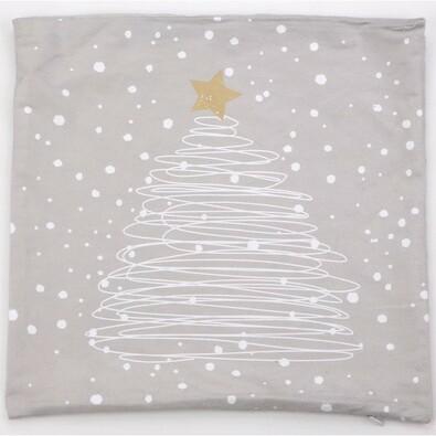 Povlak na polštářek Stromek šedý, 40 x 40 cm