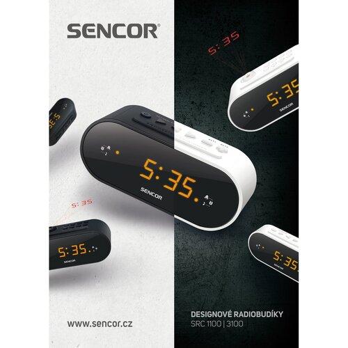 Sencor SRC 1100 W Radiobudík, bílá