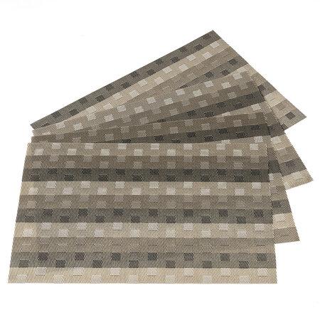 Prestieranie Grid sivá, 30 x 45 cm, sada 4 ks
