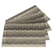 Prostírání Grid šedá, 30 x 45 cm, sada 4 ks