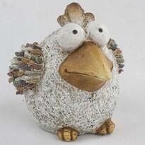 Zahradní dekorace Ptáček s kamínky, 32 x 23,5 x 22 cm