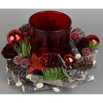 Karácsonyi gyertyatartó Wickett piros, átmérő 16 cm