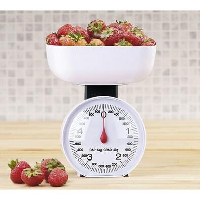 Kuchyňská váha mechanická, bílá