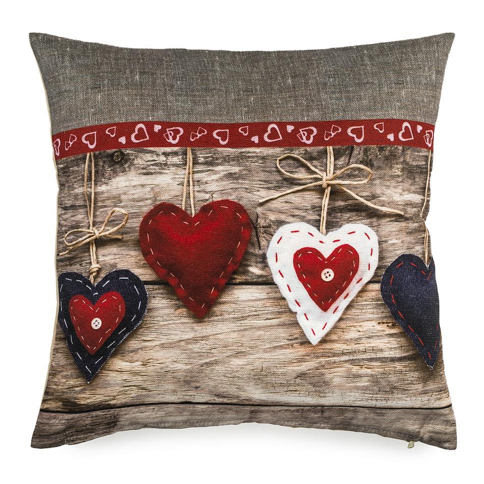 BO-MA Trading Povlak na polštářek Christmas Heart, 40 x 40 cm