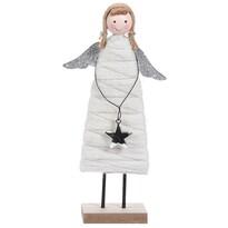 Înger de Crăciun Koopman Berenice argintiu, 23 cm
