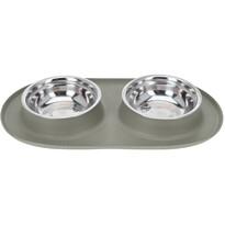 Dvojitá miska pro psa Bowl, šedá
