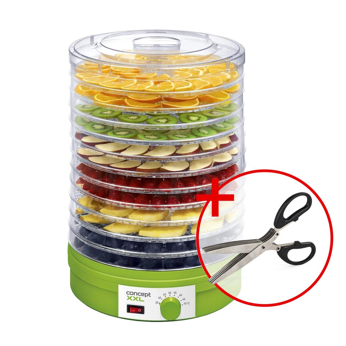 Concept SO-1025 XXL sušička ovocia darček nožnice