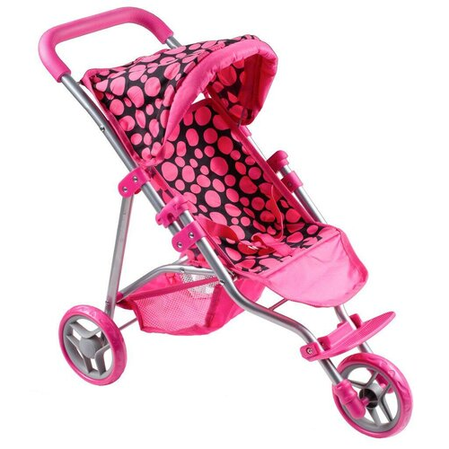 PlayTo Športový kočík pre bábiky Olivie, ružová