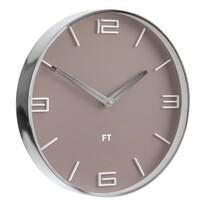Future Time FT3010BR Flat café latte Designerski zegar ścienny, śr. 30 cm