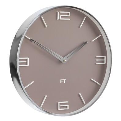 Future Time FT3010BR Flat caffe latte Designové nástenné hodiny, pr. 30 cm
