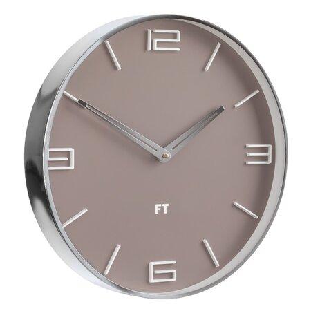 Future Time FT3010BR Flat café latte Designové nástěnné hodiny, pr. 30 cm