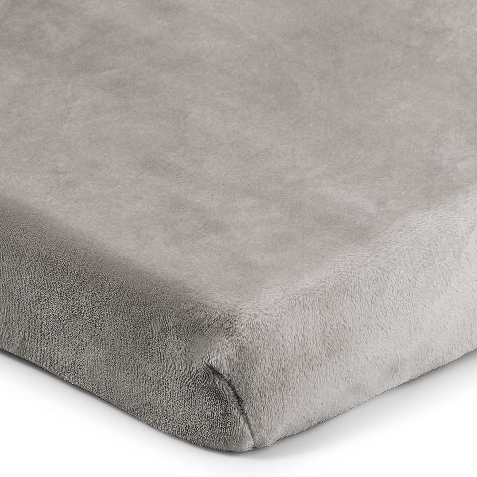 4Home prostěradlo mikroflanel šedá, 90 x 200 cm, 90 x 200 cm
