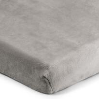 Cearșaf de pat 4Home microflanel, gri, 90 x 200 cm