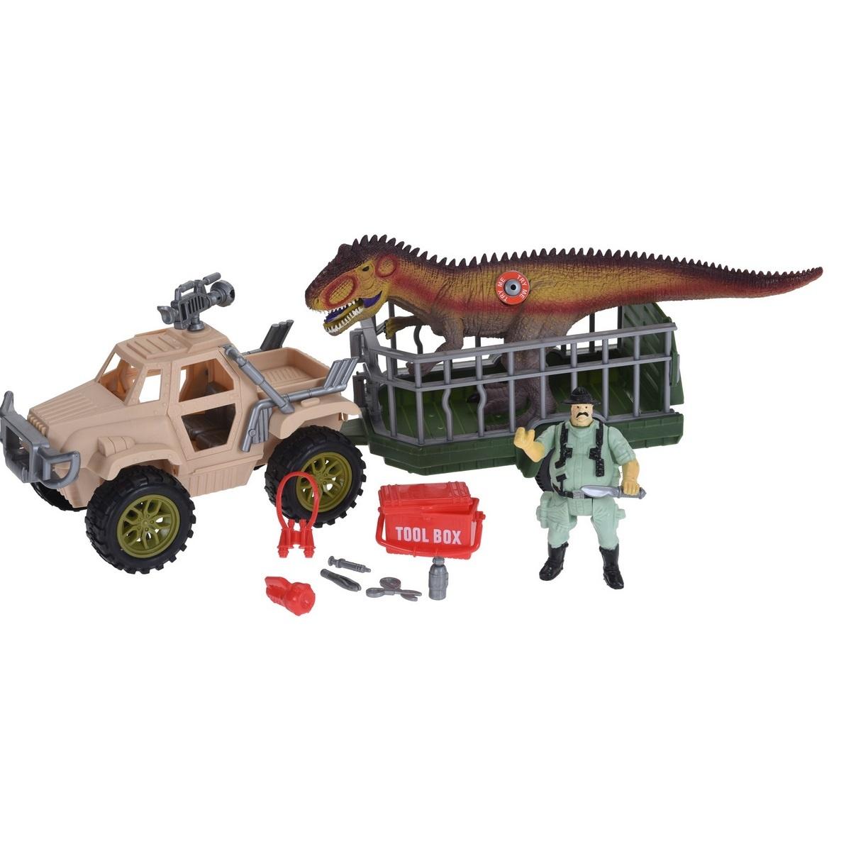 Dětský hrací set Dinosaur trailer, 4 ks