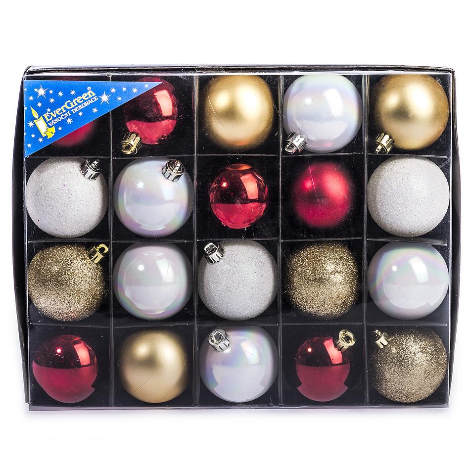 HTH Vánoční koule mix 20 ks pr. 6 cm