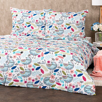 4Home Lenjerie de pat creponată Birds