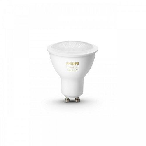 LED žárovka Philips Hue White Ambiance 5.5W GU10 set 2ks (929001953303)