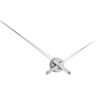100 cm Future Time FT9130SI Hands chrome Designové nástenné hodiny f613c31183