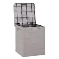 Úložný box na podušky Woody sivá, 90 l