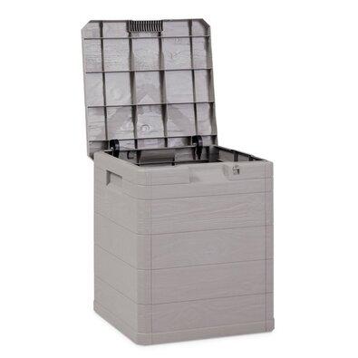 Úložný box na polstry Woody šedá, 90 l