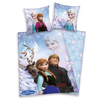 Dětské BIO povlečení Ledové království Frozen, 135 x 200 cm, 80 x 80 cm