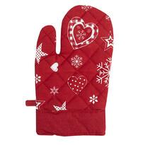 Vianočná chňapka červená, 18 x 28 cm