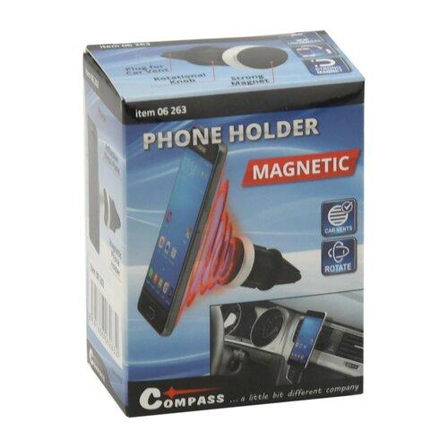 Compass Magnetický držák telefonu do mřížky Round, černá