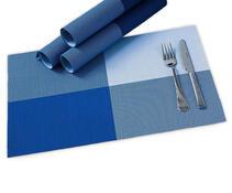 Prostírání DeLuxe modrá, 30 x 45 cm, sada 4 ks