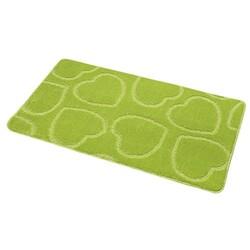 Koupelnová předložka Srdce, zelená, 60 x 100 cm