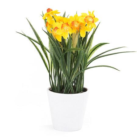 Umělá květina Narcis, tmavě žlutá