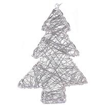 Pom de Crăciun Rivoli, din sârmă, argintiu, 20 LED
