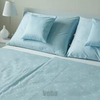 Lenjerie de pat VEBA Damasc Bohema Flori mari, albastru, 140 x 200 cm, 70 x 90 cm