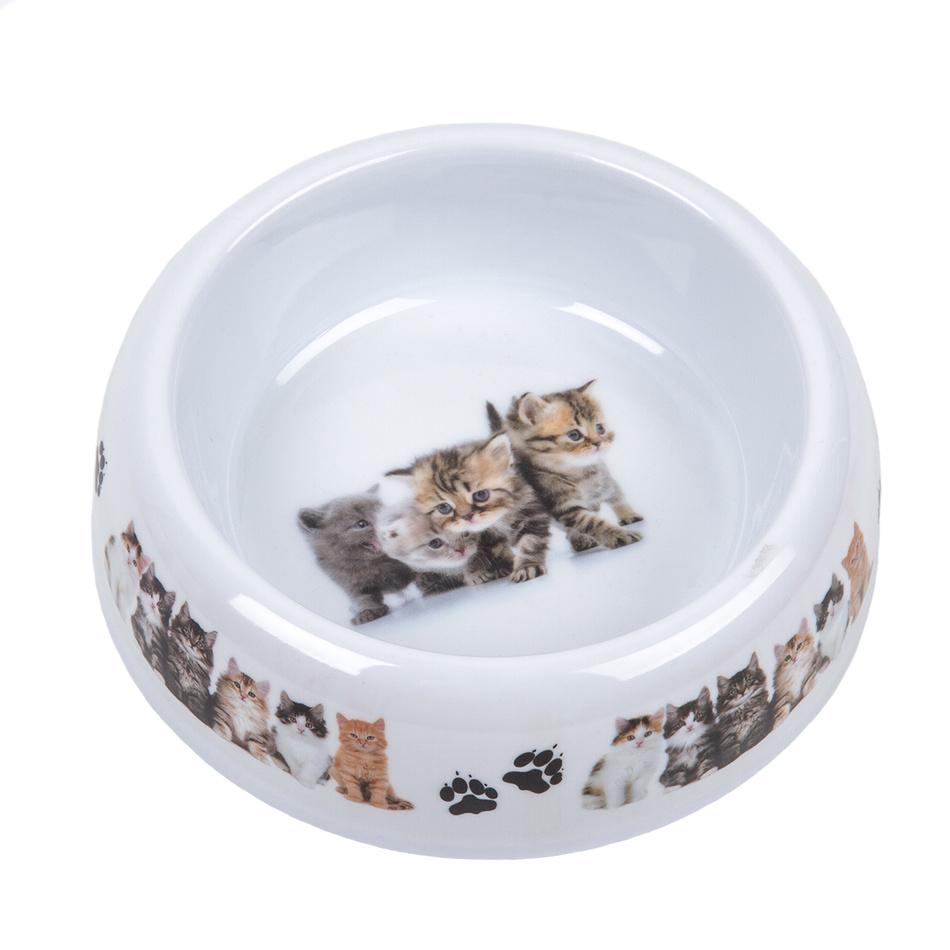 Miska pro kočky Cats, bílá