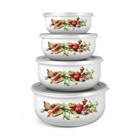 Banquet 8dílná sada smaltovaných misek Belly-ZELENINA 10x4,7cm, 14x6,1cm, 16x6,8cm, 18x7,5cm