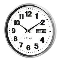 Lavvu LCT4050 kovové hodiny s ukazatelem data Date metal, 30 cm