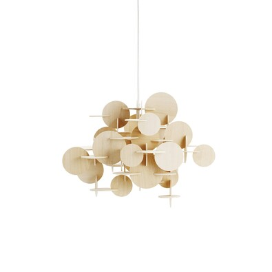 Lustr Bau Lamp L 51 cm, přírodní