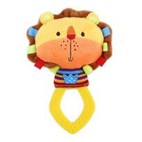 Baby Chrastítko plyšové s kousátkem Lev