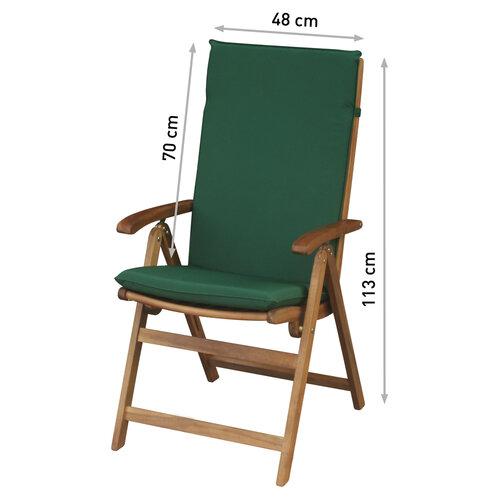 FIELDMANN FDZN 9001 Polstr na křeslo, zelená