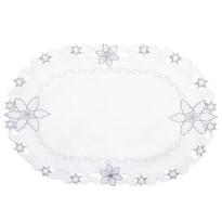 Świąteczny obrus Płatki śniegu śmietanowy, 30 x 45 cm