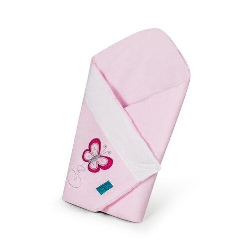 Scutec brodat de copii BelisimaFluturaș, roz, 75 x 75 cm imagine 2021 e4home.ro
