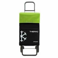 Rolser Nákupní taška na kolečkách Termo Fresh MF Convert RG, černo-zelená