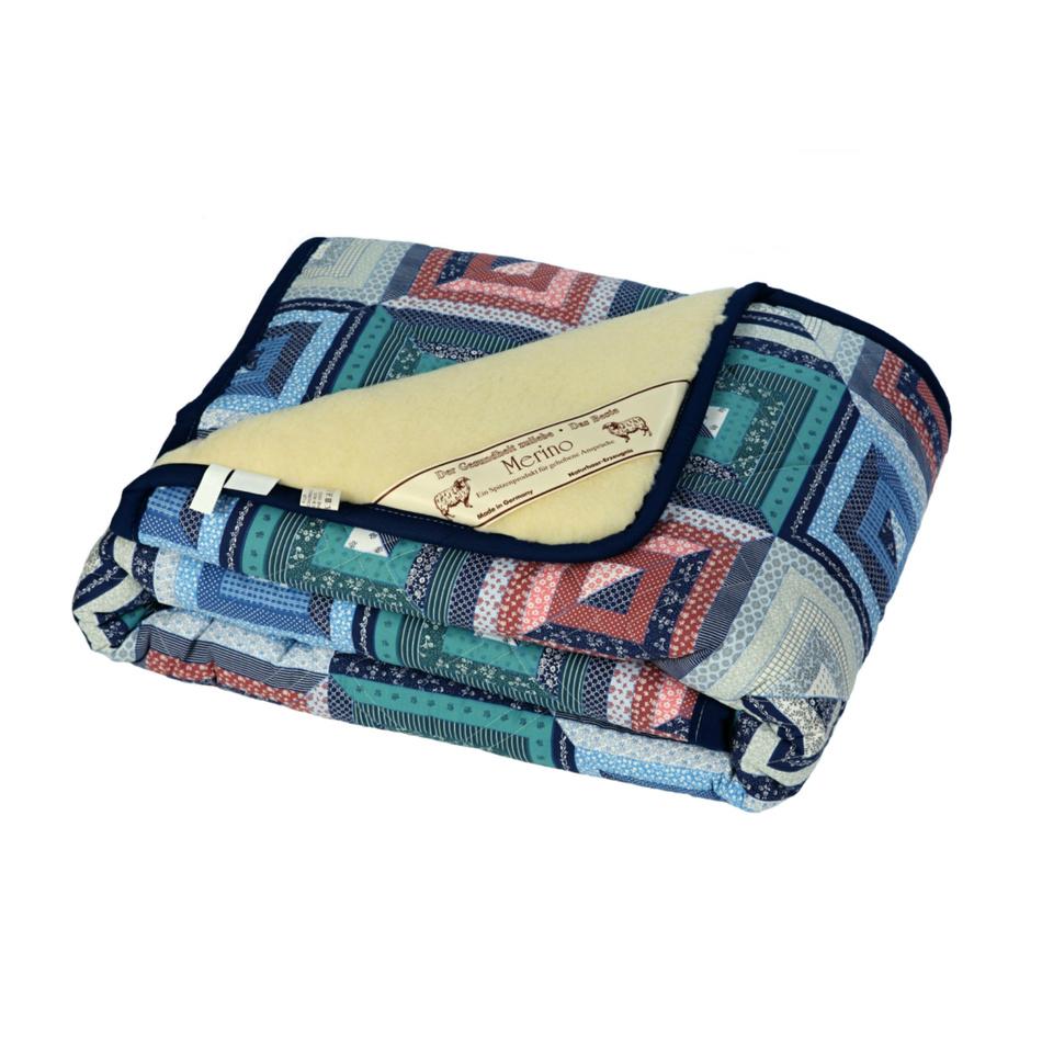 Modom Vlněná deka Merino patchwork, 140 x 200 cm,