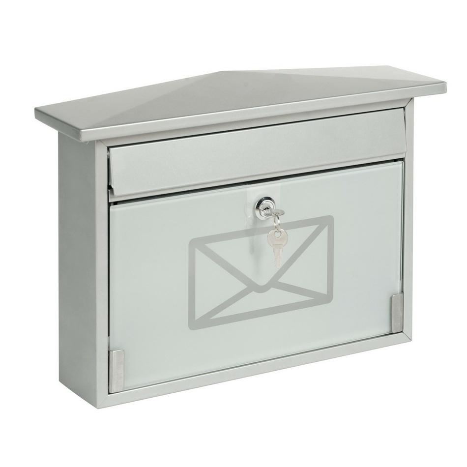 Richter Stalowa skrzynka pocztowa z hartowanym szkłem