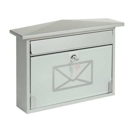 Poštová oceľová schránka s tvrdeným sklom
