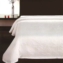 Narzuta na łóżko Floral biały, 140 x 220 cm