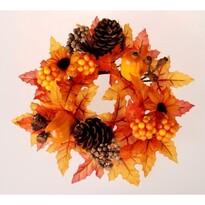 Jesenný venček s tekvicami, 20 cm