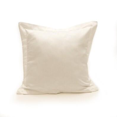 Povlak na polštářek s lemem satén bílá, 40 x 40 cm