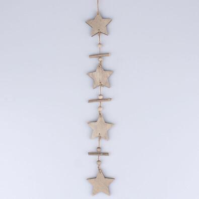Drevená girlanda, hviezdy